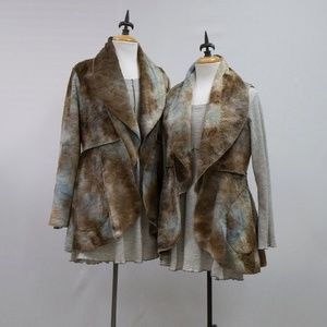 NWT Vine Street Apparel Tie Dye Faux Fur Vest